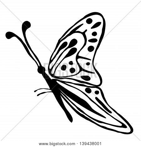 Vector Illustration Of Drawn Butterfly