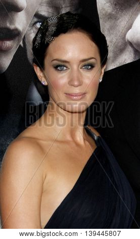 Emily Blunt at the Los Angeles premiere of 'The Wolfman' held at the ArcLight Theater in Hollywood, USA on February 9, 2010.