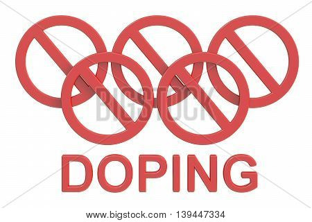 Doping concept 3D rendering isolated on white background