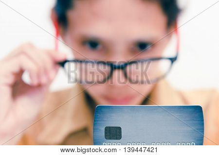 Beautiful Woman Showing Credit Card For Online Payment, Hands Holding A Credit Card And Using For On