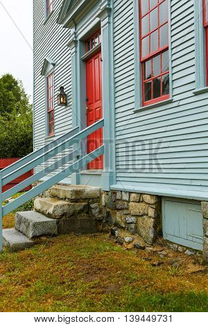 Portsmouth, Nh, Usa - September 30, 2012: Wheelwright House At Strawbery Banke Museum
