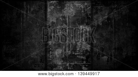 A very dark vignetted grungy metal background