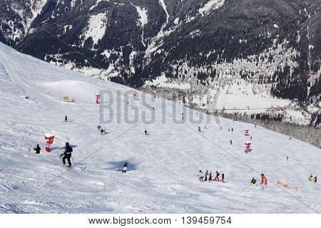 Ski resort in Austria - Bad Gastein in High Tauern (Hohe Tauern) mountain range in Alps.