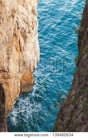 Grotta Del Turco. It Is A Popular Grotto
