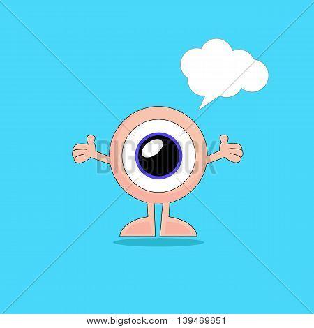 eye cartoon sense symbo emotions art icon vector