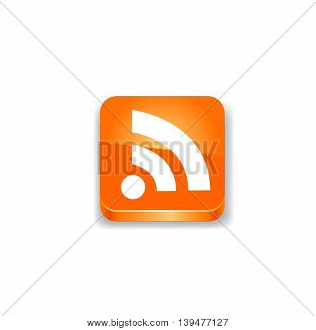 Rss icon. Vector illustration on white background.
