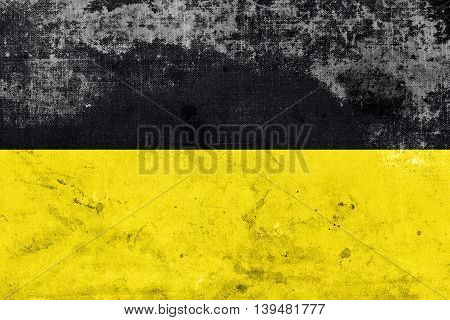 Flag Of Baden-wurttemberg, Germany, With A Vintage And Old Look
