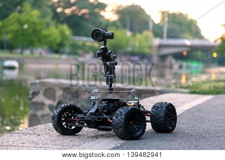 Custom made remote control vehicle camera dolly