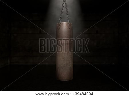 Vintage Leather Punching Bag