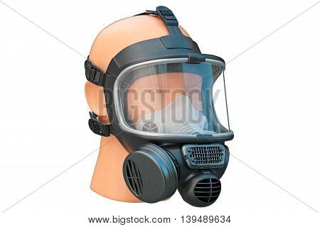 Safety pro mask rubber with locks. 3D graphic