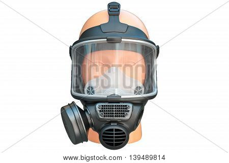 Safety pro mask rubber, front view. 3D graphic