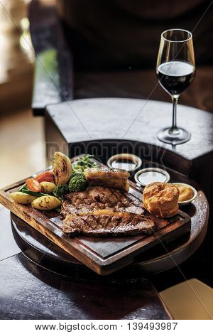 traditional famous british english sunday roast beef with vegetables classic food meal