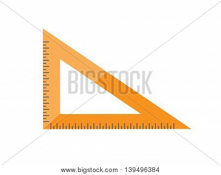 Ruler in a flat style. Scale. Width and length. Measurement tool. Vector illustration