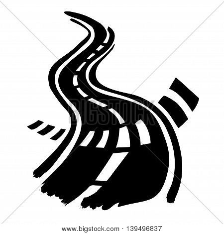 Road and Crosswalk stripes hand drawn by ink vector