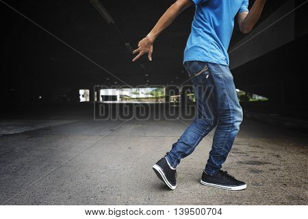 Breakdance Hiphop Dance Skill Streetdance Concept