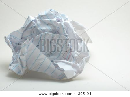 Writer'S Block Crumbled Paper