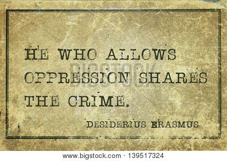 Share Crime Erasmus