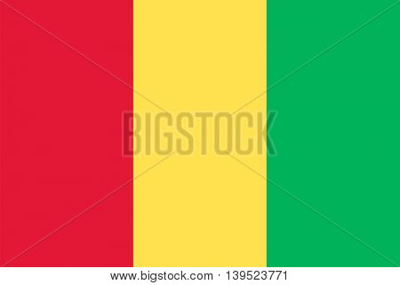 Vector Republic of Guinea flag