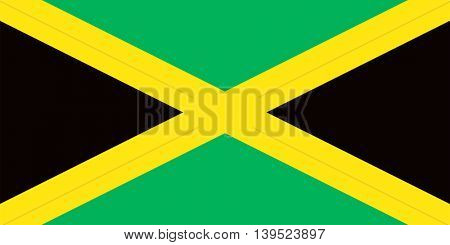 Vector Jamaica flag