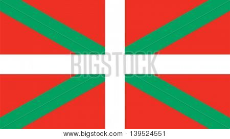 Vector Basque Country flag