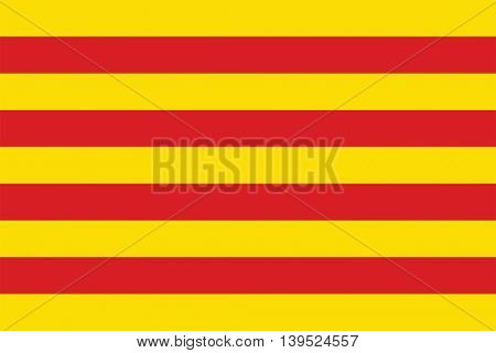 Vector Catalonia flag