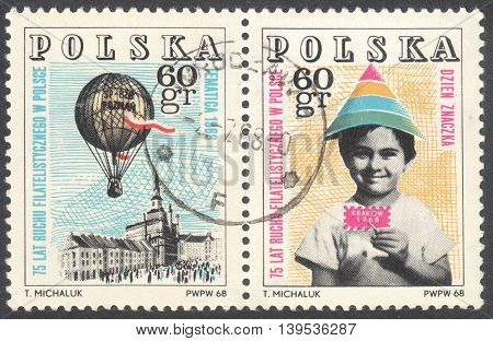 MOSCOW RUSSIA - CIRCA JANUARY 2016: a post stamp printed in POLAND the series