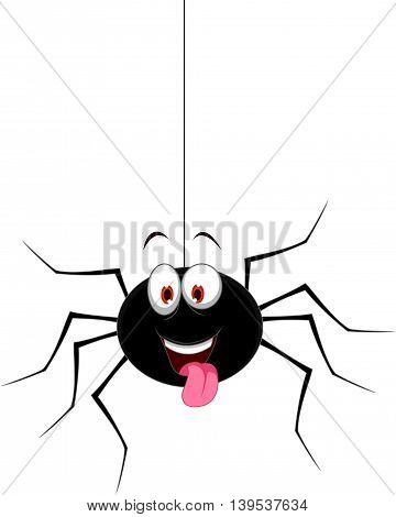 cute spider cartoon hinging for you design