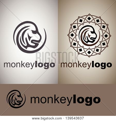monkey  logo concept designed in a simple way so it can be use for multiple proposes like logo ,marks ,symbols or icons.