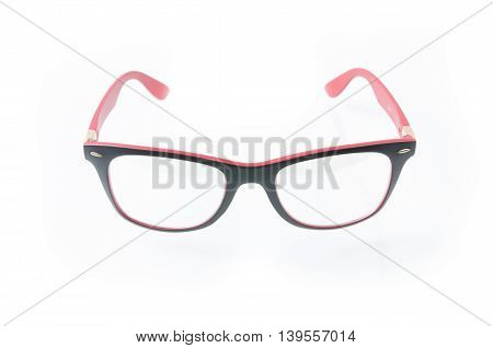 Fashion Glasses Style Plastic-framed  On White Background..