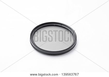 protective glass lens for the camera isolated on a white background