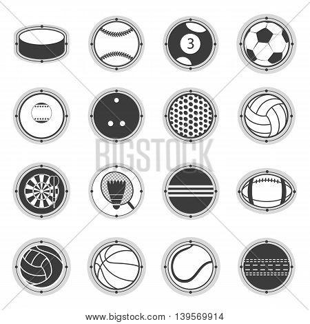 Sports Balls. Football, basketball, golf, volleyball, hockey, american football, tennis billiard baseball bowling cricket croquet badminton darts golf ping pong