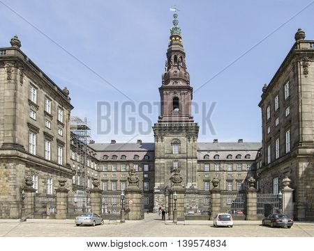 Christiansborg Palace in Copenhagen the capital city of Denmark