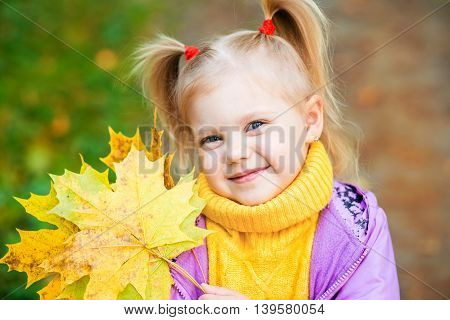 fall happy yellow autumn park girl caucasian nature red beautiful toddler small outside cute season little child childhood colorful outdoor september color cheerful october baby pretty leaf kid bright adorable infant young forest jacket people green natur