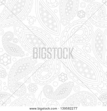 stock vector abstract seamless paisley pattern. orient floral ornament