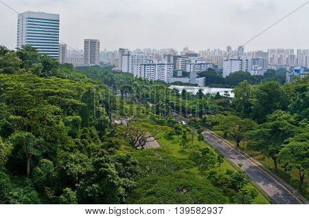 Top view of  City in Singapore
