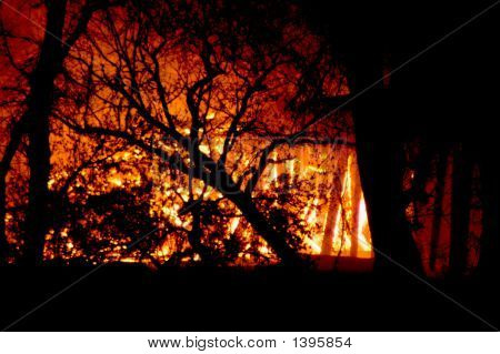 Train Trestle Fire