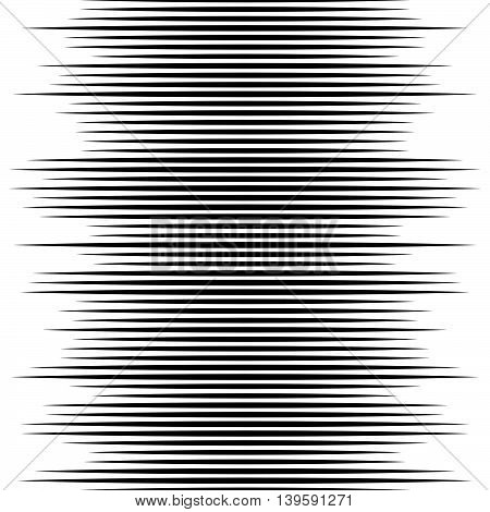 Monochrome Lines Pattern, Vertically Seamless. Straight Parallel Horizontal Lines, Abstract Illustra