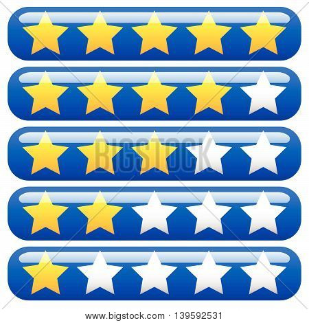 Star rating element for valuation feedback rating user experience review concepts. poster