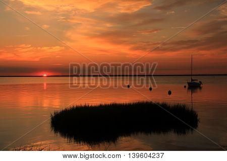 Barnegat Bay New jersey sunset July 2016.