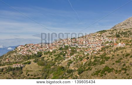 The famous resort town of Arachova, Boeotia, Greece