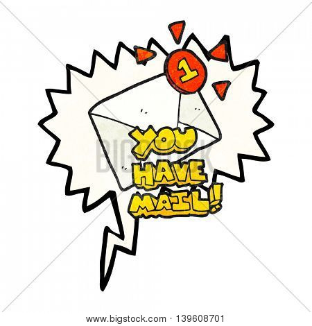 freehand speech bubble textured cartoon email