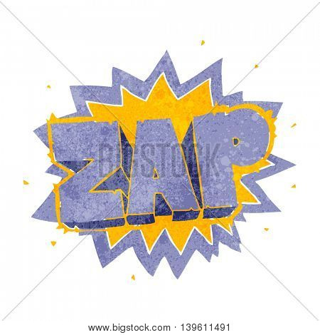 happy freehand retro cartoon zap explosion sign