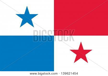 Vector Republic of Panama flag