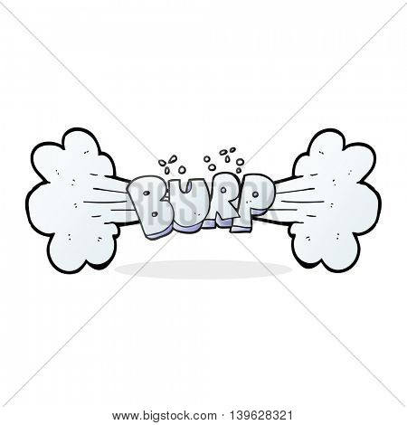 freehand drawn cartoon burp symbol