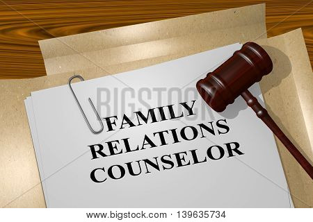 Family Relations Counselor - Legal Concept