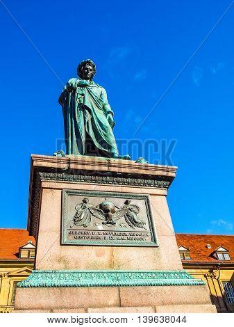 Schiller Statue, Stuttgart Hdr