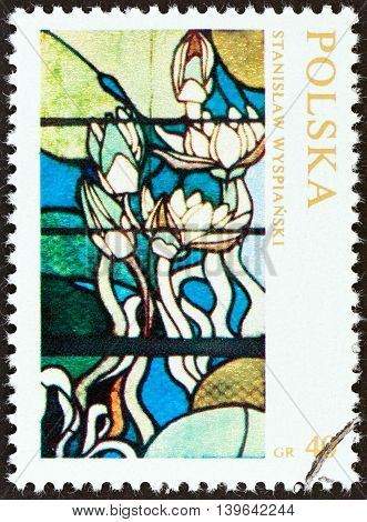 POLAND - CIRCA 1971: A stamp printed in Poland from the