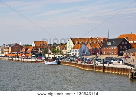town of Nordby on the island of Fano in Denmark from seaside poster