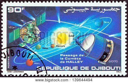 DJIBOUTI - CIRCA 1986: A stamp printed in Djibouti from the