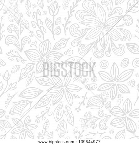 stock vector abstract seamless pattern. orient floral ornament
